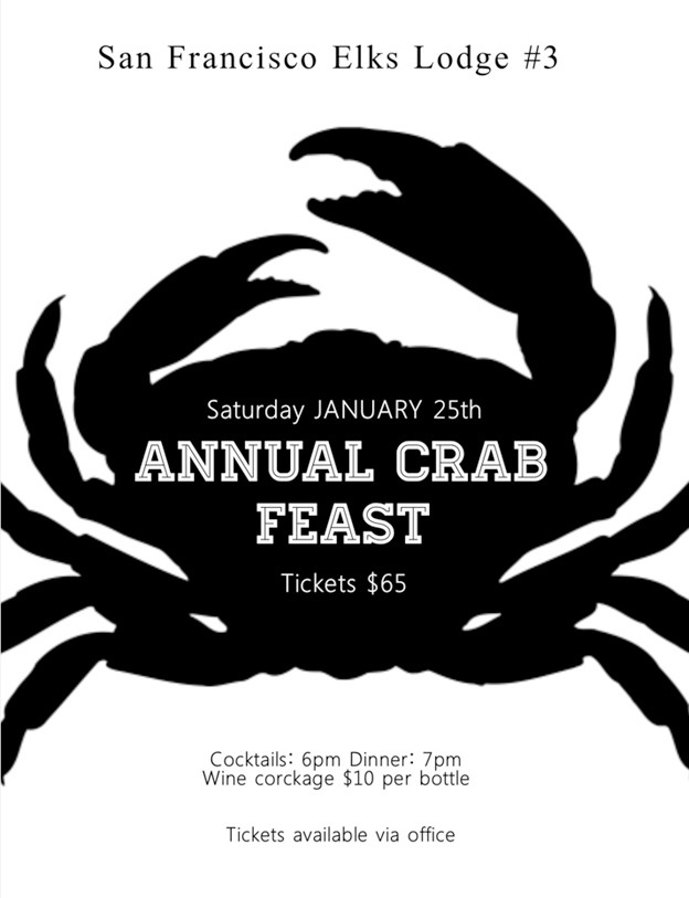 Annual crab fest sign